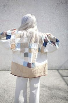 blueberrymodern: jess feury quilted jacket - oroboro store