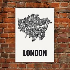 "Typografie Siebdruck ""London"""