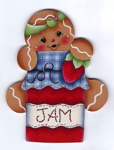 Ginger Loves Strawberry Jam Gingerbread Painting E-Pattern