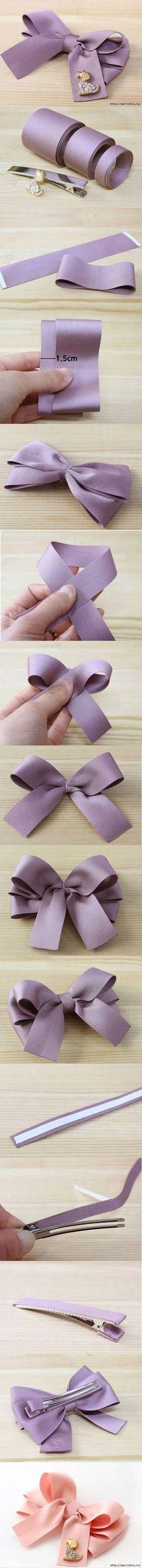 DIY Simple Bow Hairpin DIY Projects   UsefulDIY.com Follow Us on Facebook ==> http://www.facebook.com/UsefulDiy