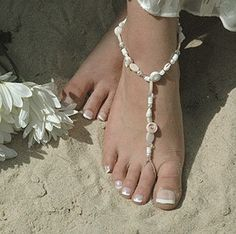 beach anklet/toe ring combo