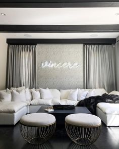 spent the day working away on site of this pretty project yesterday 🖤 VINCERE (aka fierce!) FAMILY ROOM DESIGN x BE | #fashion #interiors #lifestyle #design living room home decor kelly wearstler kylie jenner calabasas