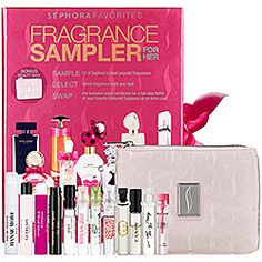 Sephora Favorites - Fragrance Sampler for Her. Seriously the perfect gift. you get 10 samples of designer perfumes and then when you pick your favorite you get a full size bottle. Thank you sephora. Holiday Gift Guide, Holiday Gifts, Holiday Fun, Sephora, Beauty Products Gifts, Thing 1, New Fragrances, Parfum Spray, Smell Good