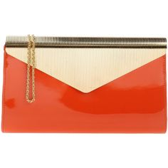 Chiara P Handbag (775 PEN) ❤ liked on Polyvore featuring bags, handbags, orange, magnetic closure handbags, hand bags, mini hand bags, man bag and purse bag
