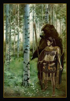 Dea Artio, Bear-goddess of the Gauls.