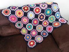 Manta para sofá - Crochê