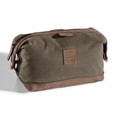 ecfda6b3157 Canvas Top-Zippered Toiletry Dopp Kit - The Wright Bros Store