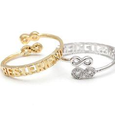 girlsluv.it - best friends infinity ring, adjustable