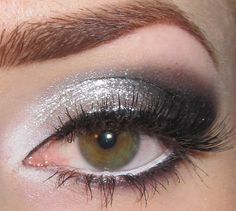 White, Silver and Black Makeup
