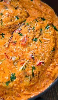 Tilapia in Roasted Pepper Sauce - COOKTORIA