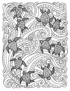 5 pages Digital coloring Sea Turtle Adult Beach Coloring Pages, Turtle Coloring Pages, Coloring Pages For Grown Ups, Free Adult Coloring Pages, Disney Coloring Pages, Animal Coloring Pages, Mandala Coloring, Coloring Book Pages, Kids Coloring