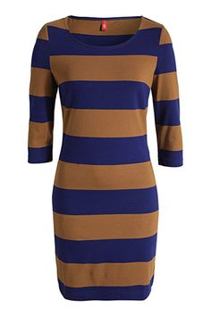 jersey dress with block stripes