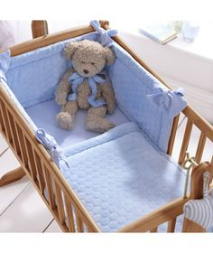 Buy Clair de Lune Marshmallow 2 Piece Rocking Crib Set - Blue at Argos.co.uk - Your Online Shop for Nursery bedding sets.