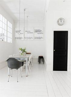 Andy Warhol -posters from Moderna Museet Sthlm. Black door.