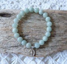 beachcomber aqua green amazonite bracelet by beachcomberhome, $18.00