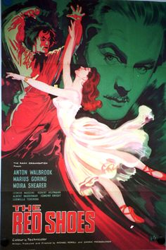 The Red Shoes (1948) - Powell & Pressburger British film classic, starring Moira Shearer, Anton Walbrook and Marius Goring.