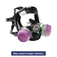 North Safety 7600 Series Full-Facepiece Respirator Mask, Medium/Large, Multicolor