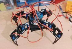 Arduino Android Kontrollü Örümcek Robot Yapımı