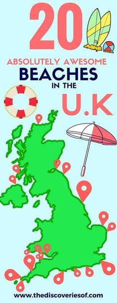 Travel in the United Kingdom is so much more than a trip to London! This map shows the best British beaches in the for an awesome summer! Brimming with activities for adults and for kids, read the full guide for your best UK summer holidays yet! Infographic