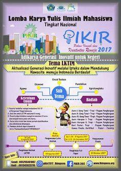 #PIKIR2017 #Lomba #LKTI #LKTIN #Universitas #Muhammadiyah #Makassar PIKIR 2017 Lomba Karya Tulis Ilmiah Mahasiswa  DEADLINE: 26 September 2017  http://infosayembara.com/info-lomba.php?judul=pikir-2017-lomba-karya-tulis-ilmiah-mahasiswa