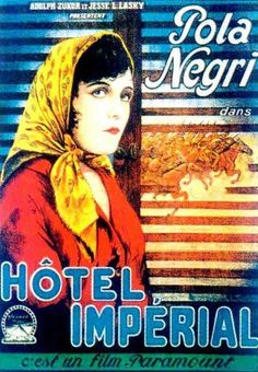 French theatrical poster for the 1927 silent film Hotel Imperial.