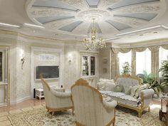 Gypsum board ceiling for classic interior design, Classic Italian interior, gypsum molding Verona, Classic Living Room, Interior Decorating, Interior Design, Gypsum, Classic Interior, Empire Style, Interior Walls, Ceiling Design