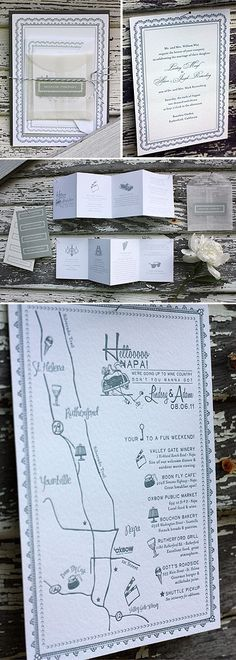 love hand drawn maps for weddings
