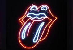 Neon Rolling Stones Tongue