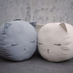 kitty cat pouf