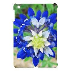 Texas Bluebonnet Top View Cover For The iPad Mini #texas #bluebonnet #floral #blue #texaseaglegallery