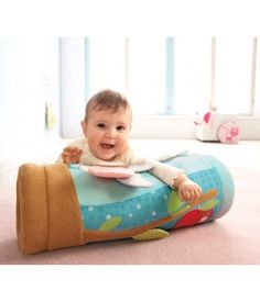Crawling roller with butterflies theme