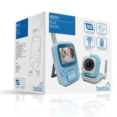 [114,9€] Basbau BB 201 blue digital. Vigilabebé con cámara y pantalla