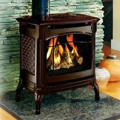 Traditional Freestanding Fireplace from HearthStone, Model: 8301