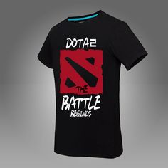 100% cotton Dota2 t shirt Turret International Invitation TI5 T-shirts summer style DOTA 2 logo T-Shirt Plus Size
