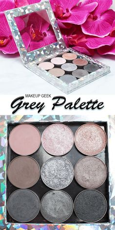 This post contains a mix of press samples and products purchased by me. I wanted to share my Makeup Geek Grey Palette with you. First of all, this was one of the more tricky palettes to put together. Makeup Geek Eyeshadow Swatches, Makeup Geek Palette, Makeup Geek Cosmetics, Peach Eyeshadow, Neutral Eyeshadow, Highlighter Makeup, Contour Makeup, Sfx Makeup, Makeup Kit