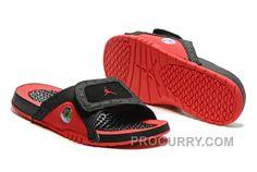 1db8933260607d 2016 Air Jordan Hydro 13 Slide Sandals Black Red New