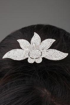 330313c909db Fresh Flower Shaped Alloy and Rhinestone Tiara   Headpiece-HC