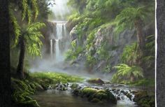 Want to escape to a tropical forest? Watch as Kevin shows you how to paint this forest with waterfalls and palm trees. For more information about DVDs and e-packets, go to www.paintwithkevin.com