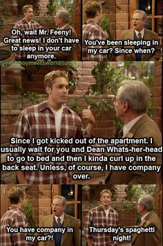 Boy Meets World lmao this will always be the best show ever! Tv Quotes, Movie Quotes, Funny Quotes, Funny Memes, Boy Meets World Quotes, Girl Meets World, 3 Bmw, Fraggle Rock, Thing 1