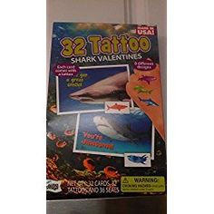 32 Tattoo Shark Valentines Day Trading Cards with 8 Different Designs, Great for Classroom Sharing Day Trading, Trading Cards, Grumpy Cat, Valentine Day Cards, Cool Cards, Shark, Classroom, Baseball Cards, Tattoo