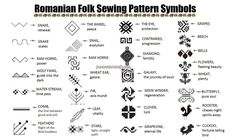 romanian pattern protection symbols and their meanings Symbole Protection, Protection Symbols, Embroidery Patterns, Sewing Patterns, Stitch Patterns, Tribal Tattoos, Tatoos, Outline, Symbols And Meanings