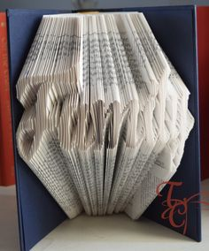 Folded Book Art  Family  Book Sculpture  by TodaysCreations1