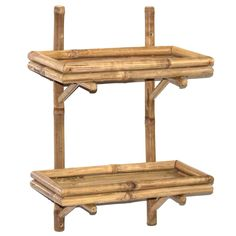 Bamboo54, the bamboo leader for 20 years, proudly presents to you this hand crafted double bamboo wall shelf.  Providing you with extra storage for toiletries or decorative pieces for your bathroom or any room in your house.