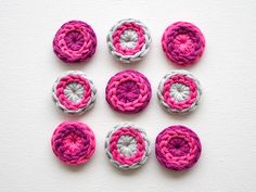 DIY: crocheted buttons