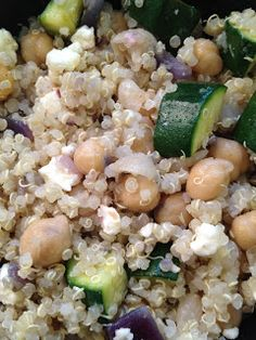 marching to a different beat: quinoa, chick pea and zucchini salad