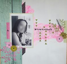 Lift, rose scrap vert fond bois masking tape patouille