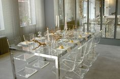 Glass table dining room | Gosto muito | Pinterest | Glass table ...