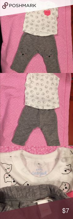 Baby Cat & Jack outfit Super cute!!! Size 0-3 months. In perfect condition  Baby Cat & Jack Matching Sets