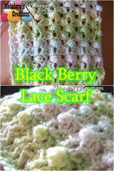 Your place to learn how to Crochet the Black Berry Lace Scarf for FREE. by Meladora's Creations - Free Crochet Patterns and Video Tutorials