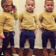 Handsome Toddler Boy Fashion, Little Boy Fashion, Young Fashion, Toddler Boys, Kids Fashion, Baby Boy Swag, Cute Baby Boy Outfits, Toddler Outfits, Outfits Niños